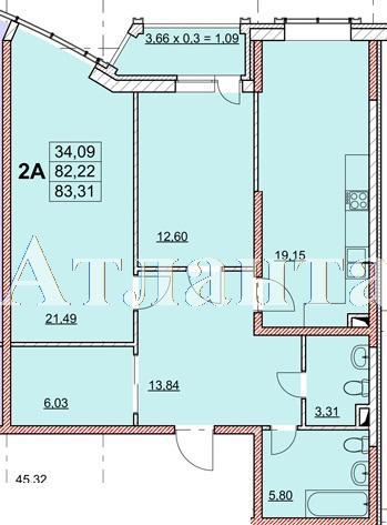 Продается 2-комнатная квартира в новострое на ул. Гагаринское Плато — 85 700 у.е.