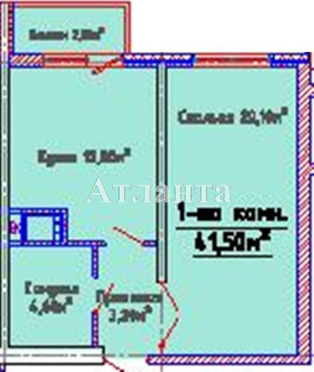Продается 1-комнатная квартира в новострое на ул. Люстдорфская Дорога — 30 270 у.е.