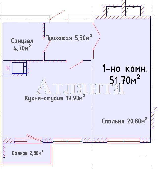 Продается 1-комнатная квартира в новострое на ул. Люстдорфская Дорога — 38 450 у.е. (фото №4)