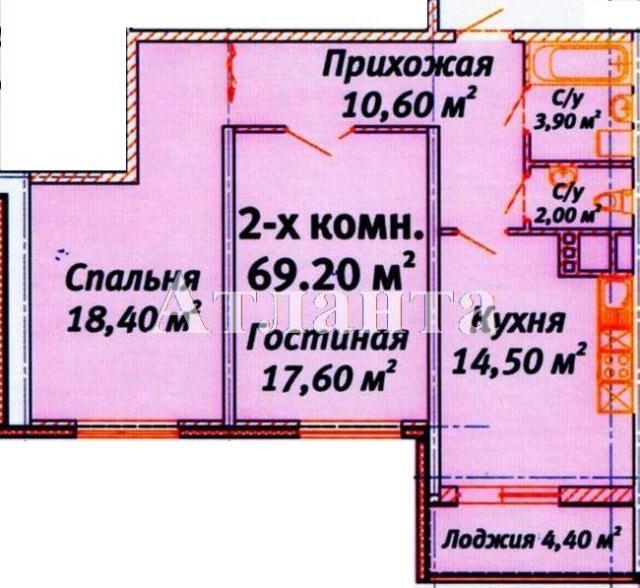 Продается 2-комнатная квартира в новострое на ул. Среднефонтанская — 59 000 у.е.