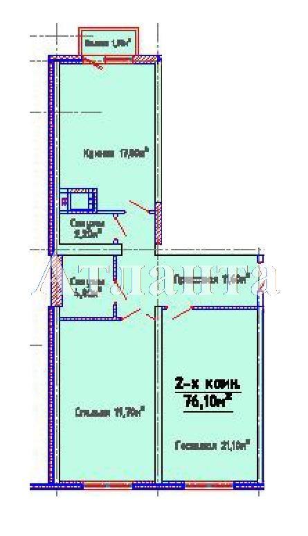 Продается 2-комнатная квартира в новострое на ул. Люстдорфская Дорога — 59 950 у.е.