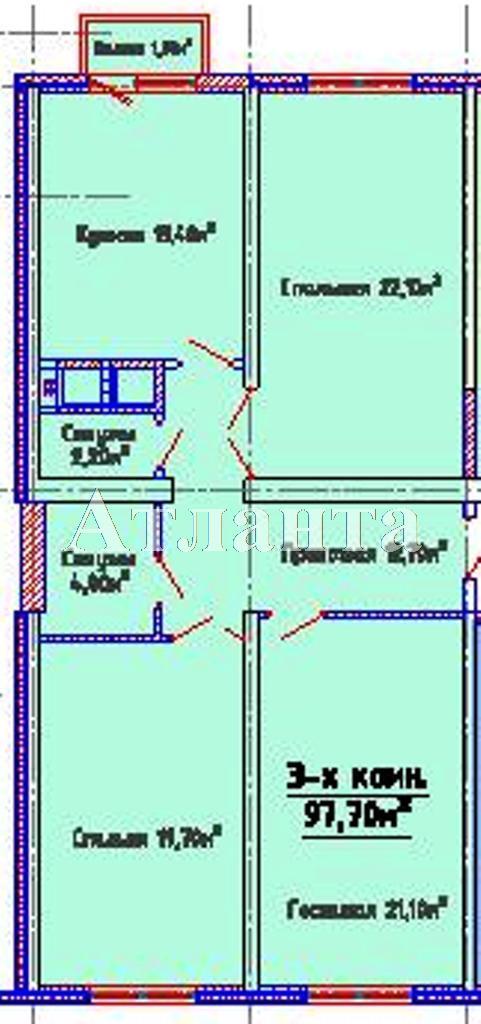 Продается 3-комнатная квартира в новострое на ул. Люстдорфская Дорога — 78 900 у.е.