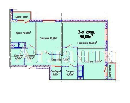 Продается 3-комнатная квартира в новострое на ул. Люстдорфская Дорога — 72 300 у.е. (фото №4)