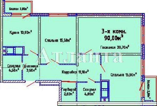 Продается 3-комнатная квартира в новострое на ул. Люстдорфская Дорога — 71 600 у.е.