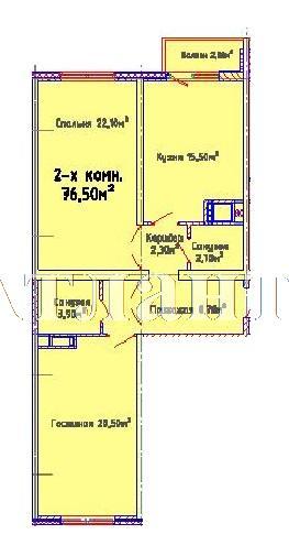 Продается 2-комнатная квартира в новострое на ул. Люстдорфская Дорога — 52 100 у.е.