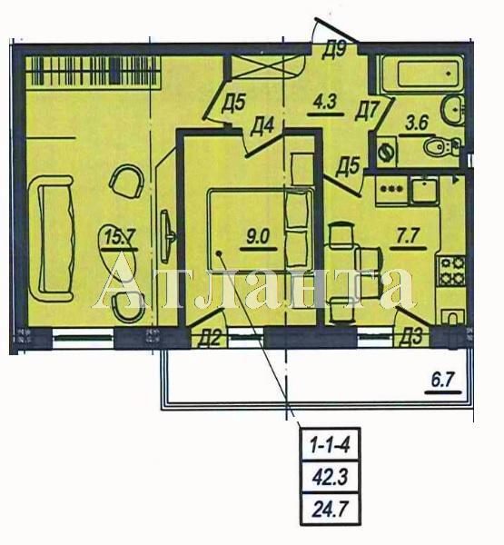 Продается 2-комнатная квартира в новострое на ул. Люстдорфская Дорога — 38 000 у.е. (фото №2)