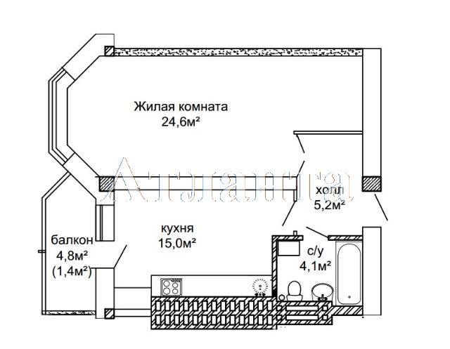 Продается 1-комнатная квартира в новострое на ул. Костанди — 45 000 у.е.