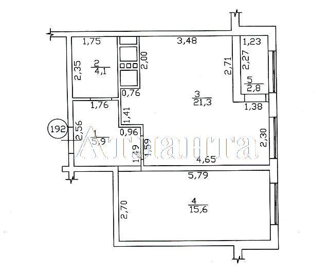 Продается 1-комнатная квартира в новострое на ул. Люстдорфская Дорога — 41 000 у.е. (фото №2)