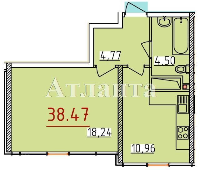 Продается 1-комнатная квартира в новострое на ул. Бассейная — 21 080 у.е.