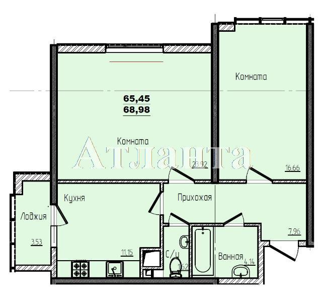 Продается 2-комнатная квартира в новострое на ул. Жм Дружный — 41 450 у.е.