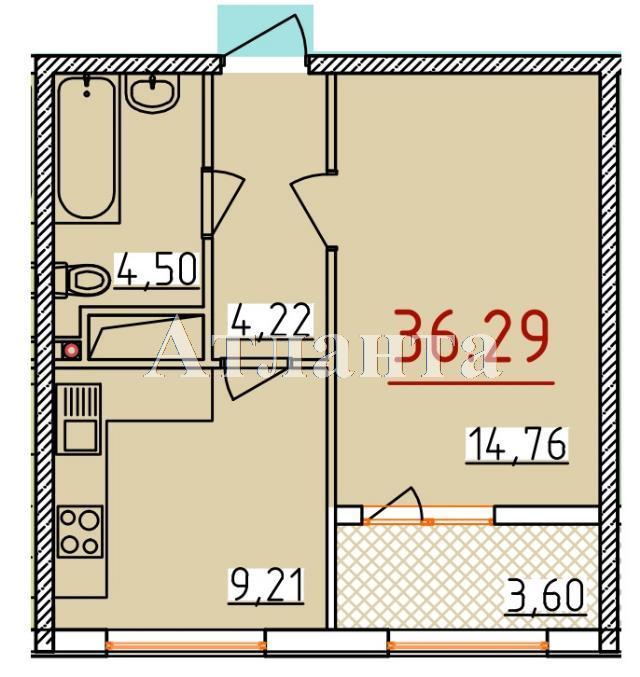 Продается 1-комнатная квартира в новострое на ул. Бассейная — 19 060 у.е.