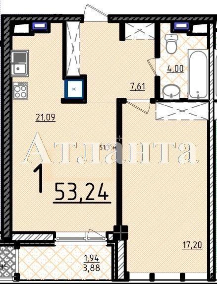 Продается 1-комнатная квартира в новострое на ул. Французский Бул. — 104 980 у.е.