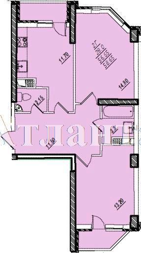 Продается 2-комнатная квартира в новострое на ул. Проценко — 45 700 у.е.