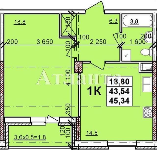 Продается 1-комнатная квартира в новострое на ул. Балковская — 31 250 у.е.