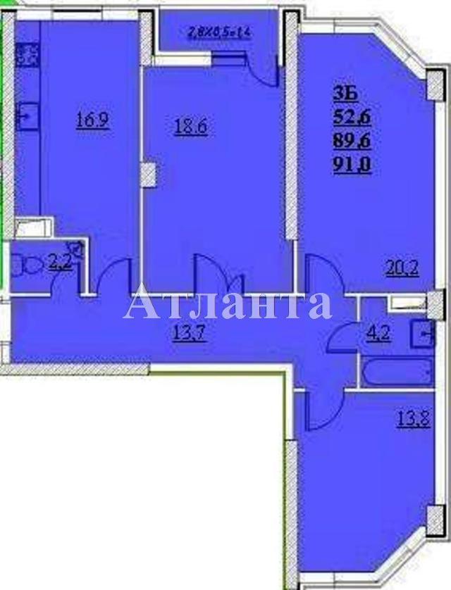 Продается 3-комнатная квартира в новострое на ул. Проценко — 58 000 у.е.
