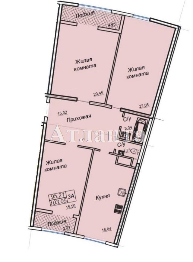 Продается 3-комнатная квартира в новострое на ул. Генуэзская — 88 000 у.е.