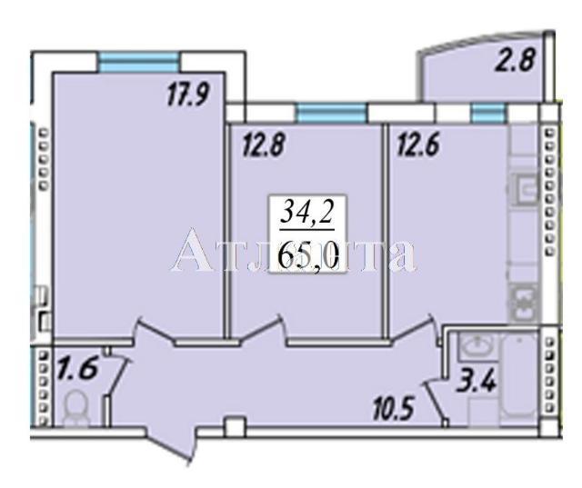 Продается 2-комнатная квартира в новострое на ул. Пригородская — 43 550 у.е. (фото №4)