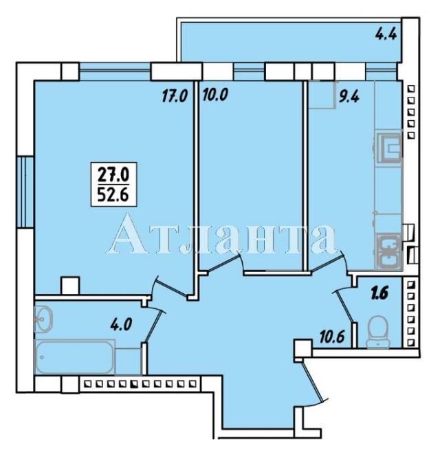 Продается 2-комнатная квартира в новострое на ул. Пригородская — 29 320 у.е.