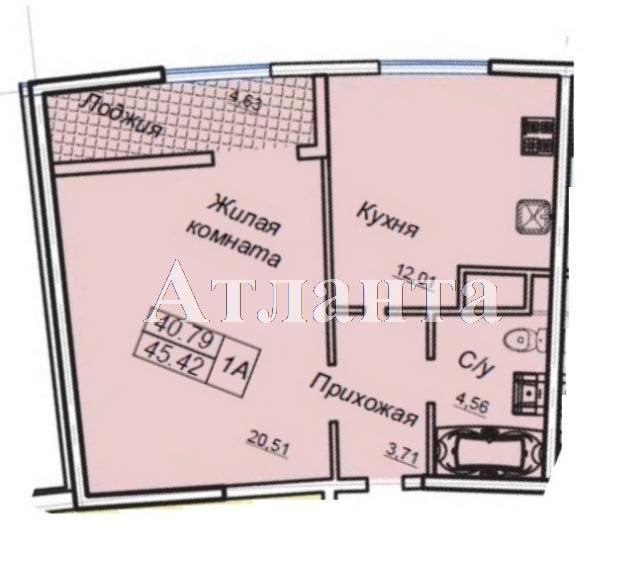 Продается 1-комнатная квартира в новострое на ул. Генуэзская — 55 300 у.е. (фото №4)