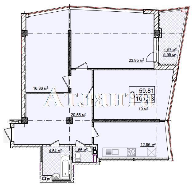 Продается 3-комнатная квартира в новострое на ул. Фонтанская Дор. — 127 490 у.е.