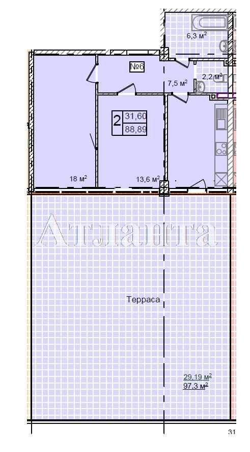 Продается 2-комнатная квартира в новострое на ул. Фонтанская Дор. — 112 000 у.е.