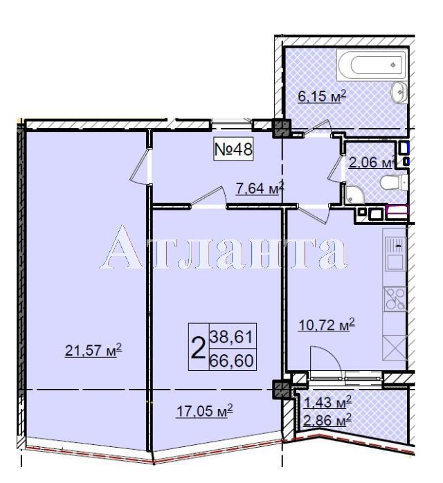 Продается 2-комнатная квартира в новострое на ул. Фонтанская Дор. — 89 910 у.е.