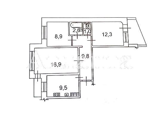 Продается 3-комнатная квартира на ул. Николаевская Дор. — 34 000 у.е. (фото №9)