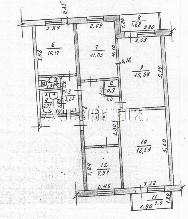Продается 4-комнатная квартира на ул. Карнаухина — 21 000 у.е. (фото №9)