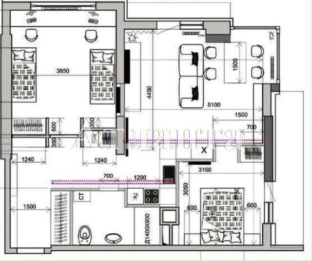 Продается 3-комнатная квартира в новострое на ул. Французский Бул. — 160 000 у.е. (фото №3)