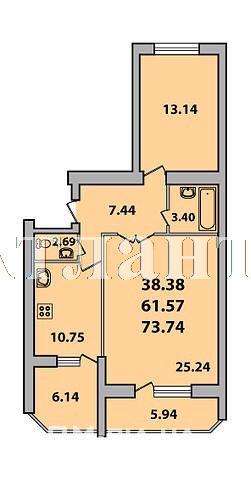 Продается 2-комнатная квартира в новострое на ул. Академика Королева — 71 000 у.е. (фото №7)
