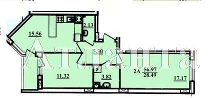 Продается 2-комнатная квартира в новострое на ул. Радужный 2 М-Н — 35 000 у.е. (фото №3)