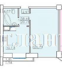 Продается 1-комнатная квартира в новострое на ул. Французский Бул. — 75 000 у.е. (фото №8)