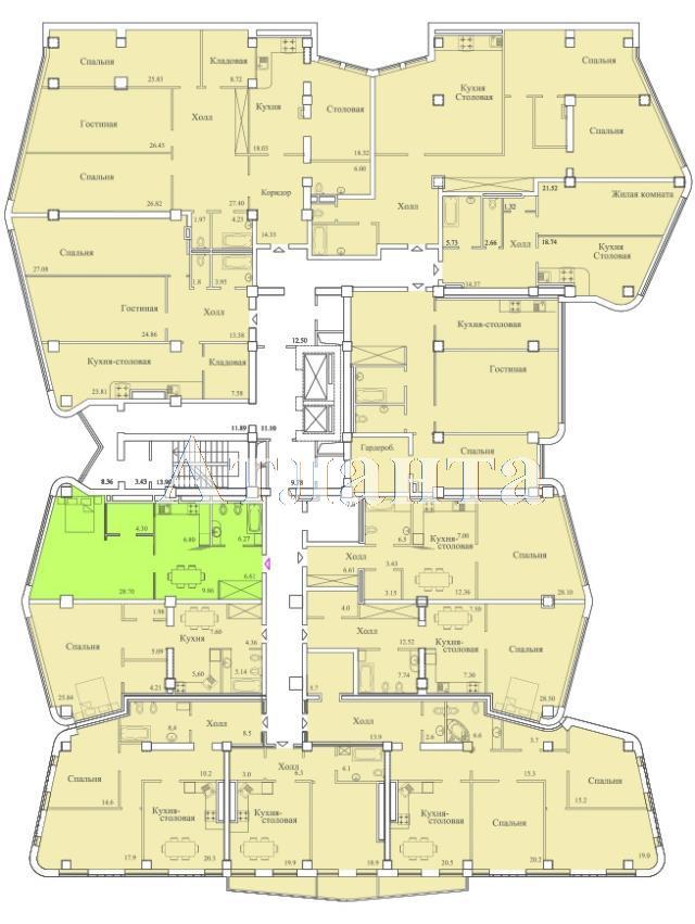 Продается 3-комнатная квартира в новострое на ул. Удельный Пер. — 142 800 у.е. (фото №4)