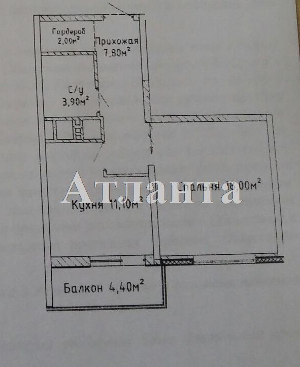 Продается 1-комнатная квартира в новострое на ул. Среднефонтанская — 45 000 у.е. (фото №2)