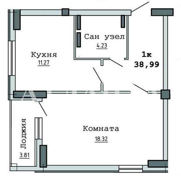 Продается 1-комнатная квартира на ул. Бочарова Ген. — 27 500 у.е. (фото №3)