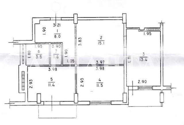 Продается 3-комнатная квартира на ул. Сахарова — 55 000 у.е. (фото №14)