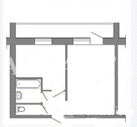Продается 1-комнатная квартира на ул. Центральная — 17 500 у.е. (фото №3)