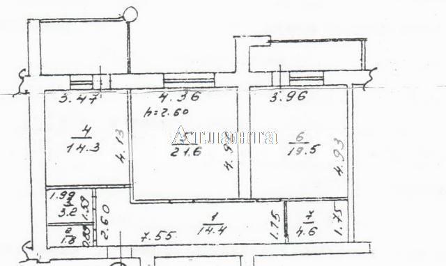 Продается 2-комнатная квартира на ул. Тополевая — 78 000 у.е.