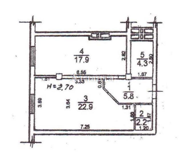 Продается 1-комнатная квартира в новострое на ул. Разумовская — 42 500 у.е.