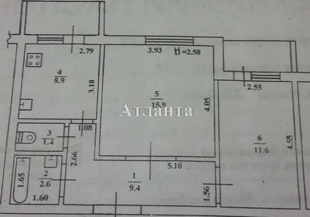 Продается 2-комнатная квартира на ул. Хвойный Пер. — 60 000 у.е. (фото №10)