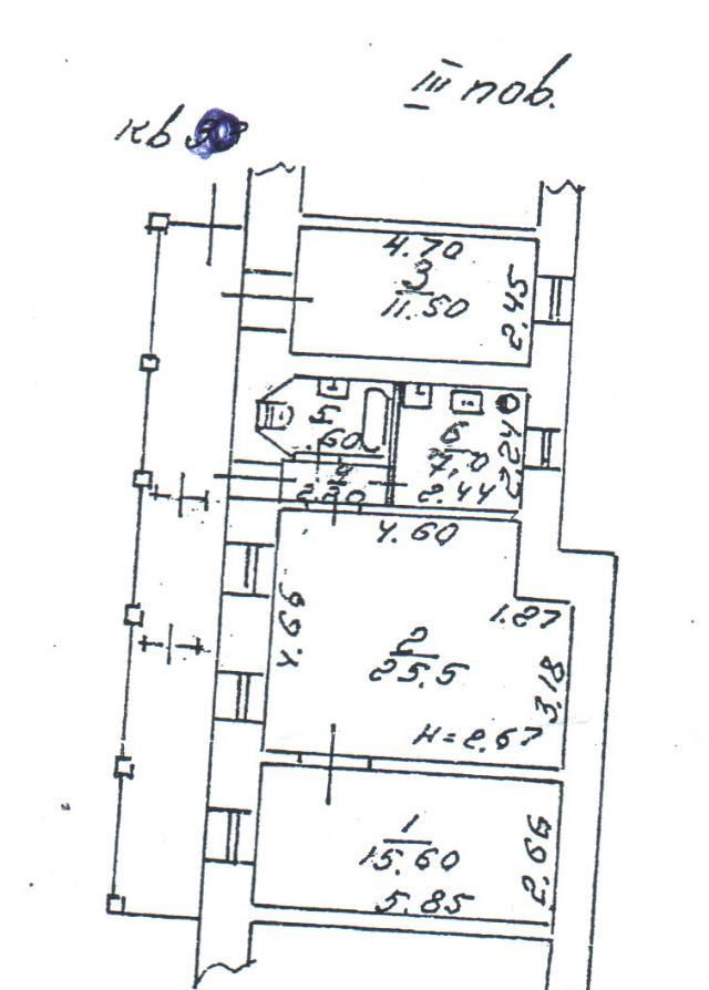 Продается 3-комнатная квартира на ул. Греческая — 65 000 у.е.