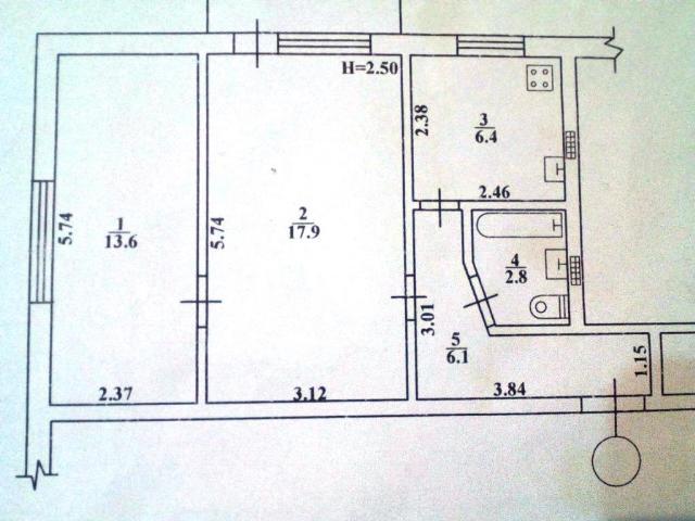 Продается 2-комнатная квартира на ул. Новикова — 27 000 у.е. (фото №11)