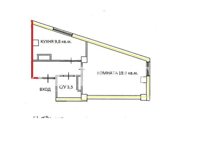 Продается 1-комнатная квартира на ул. Разумовская — 36 000 у.е. (фото №2)