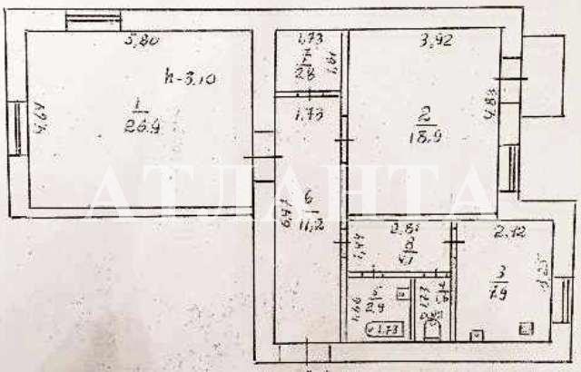 Продается 2-комнатная квартира на ул. Гагарина Пр. — 130 000 у.е. (фото №3)