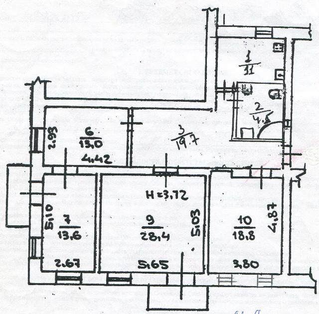 Продается 4-комнатная квартира на ул. Екатерининская — 76 000 у.е.