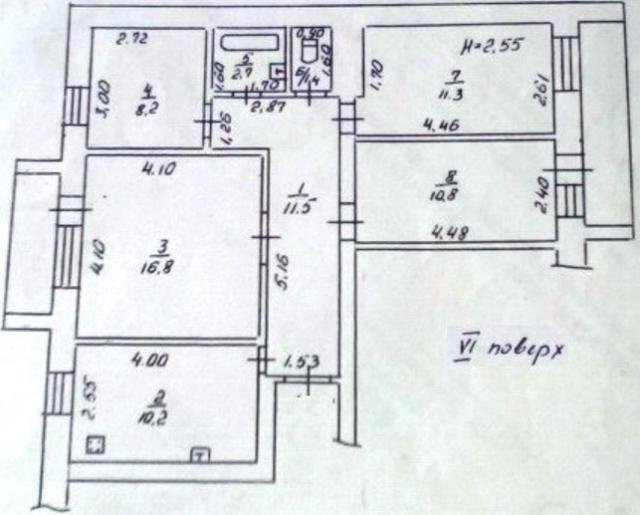 Продается 4-комнатная квартира на ул. Бреуса — 60 000 у.е. (фото №11)