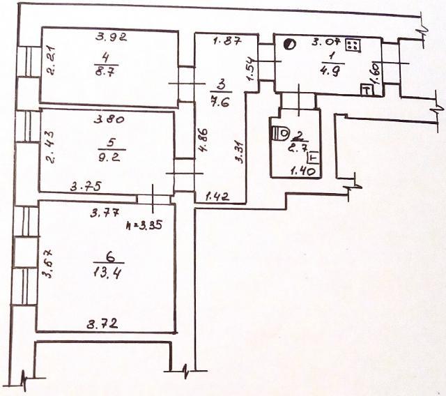 Продается 3-комнатная квартира на ул. Малая Арнаутская — 38 000 у.е. (фото №9)