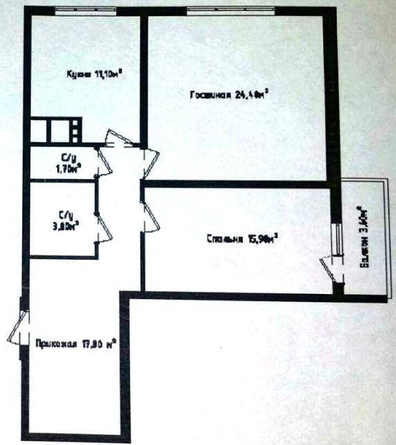 Продается 2-комнатная квартира в новострое на ул. Генуэзская — 91 000 у.е.