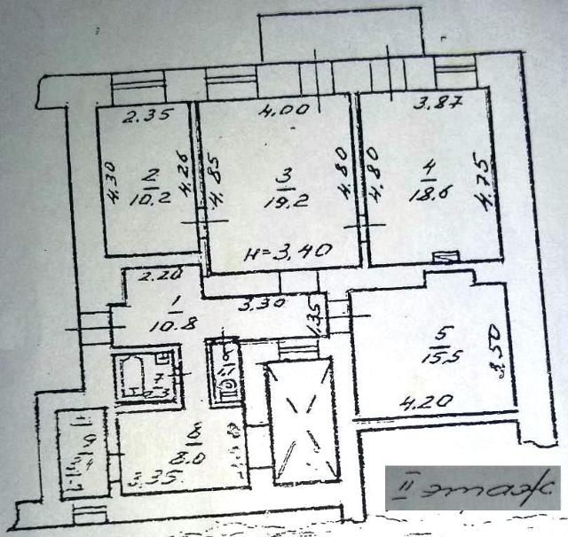 Продается 4-комнатная квартира на ул. Асташкина Пер. — 80 000 у.е. (фото №15)