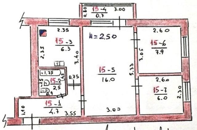 Продается 3-комнатная квартира на ул. Победы — 21 000 у.е. (фото №13)